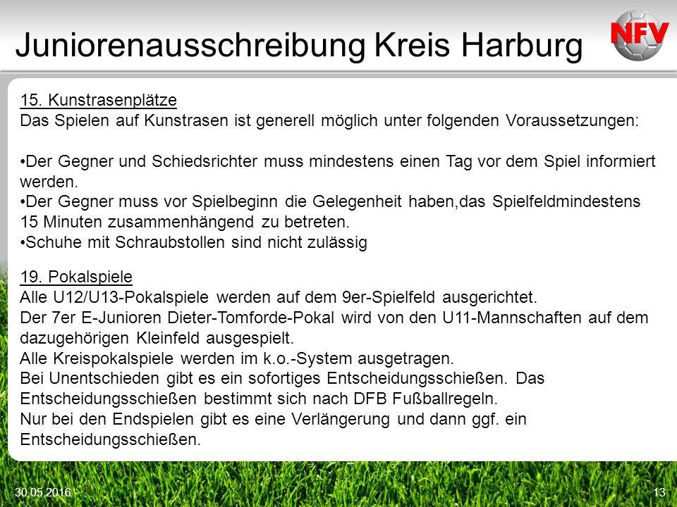 Juniorenausschreibung Kreis Harburg 30.05.201613 15.
