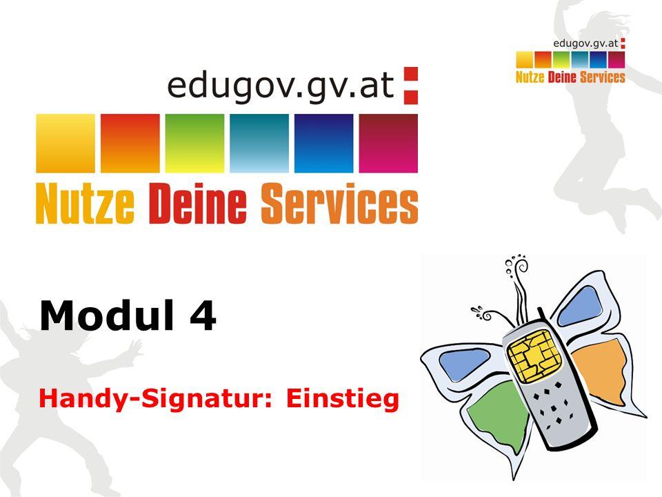 Modul 4 Handy-Signatur: Einstieg