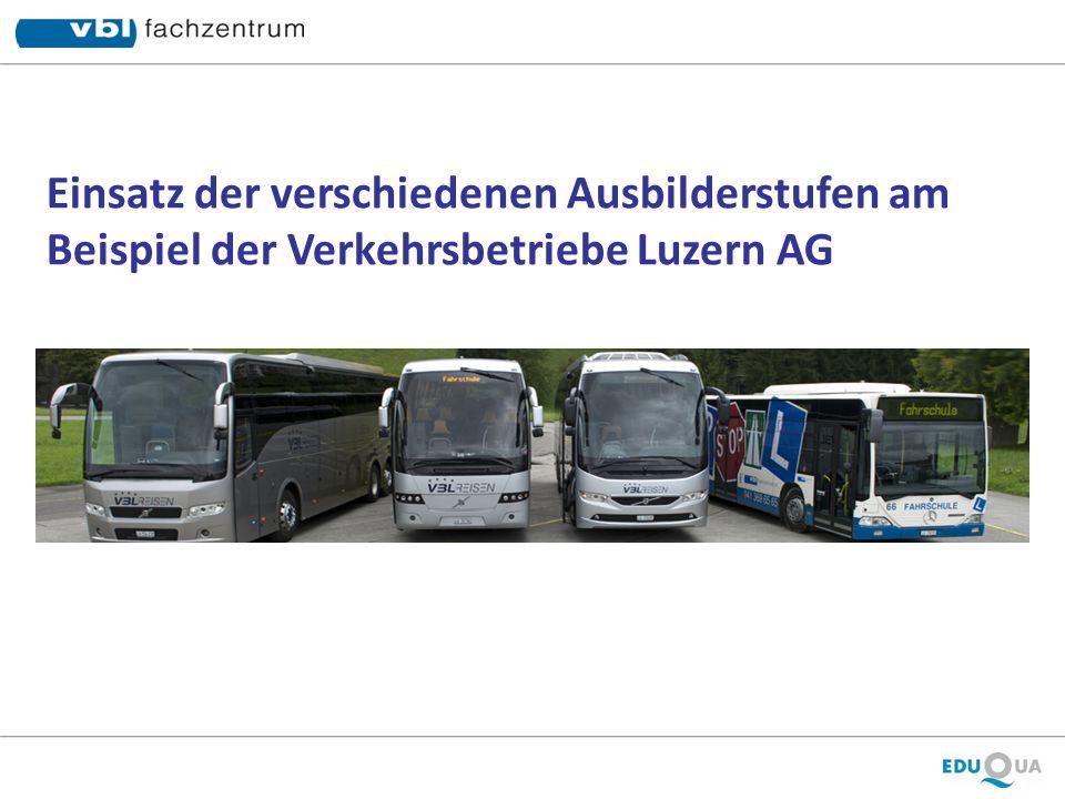 Einsatz der verschiedenen Ausbilderstufen am Beispiel der Verkehrsbetriebe Luzern AG