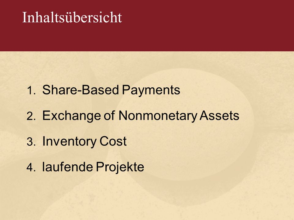1. Share - Based Payments