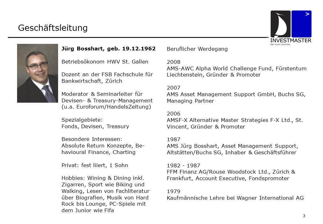 3 Geschäftsleitung Jürg Bosshart, geb.19.12.1962 Betriebsökonom HWV St.