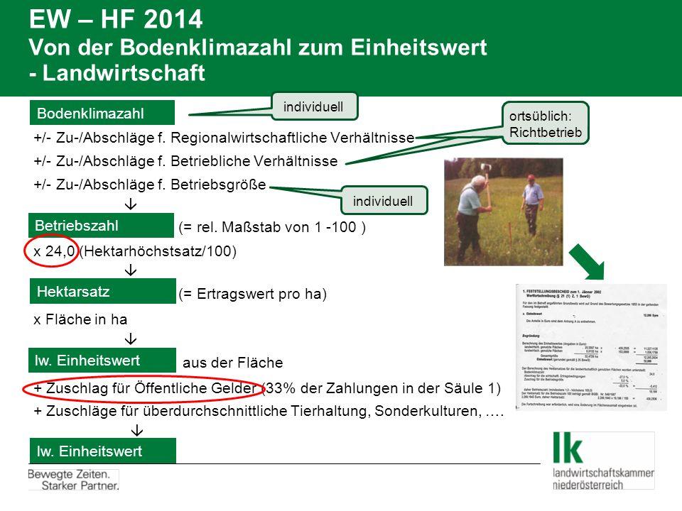 EW – HF 2014: LuF 1 Beispiel Ergänzung erforderlich, da Sohn Adalbert Ackerbauer den Hälfteanteil der Mutter vor 1.1.2014 übernommen hat