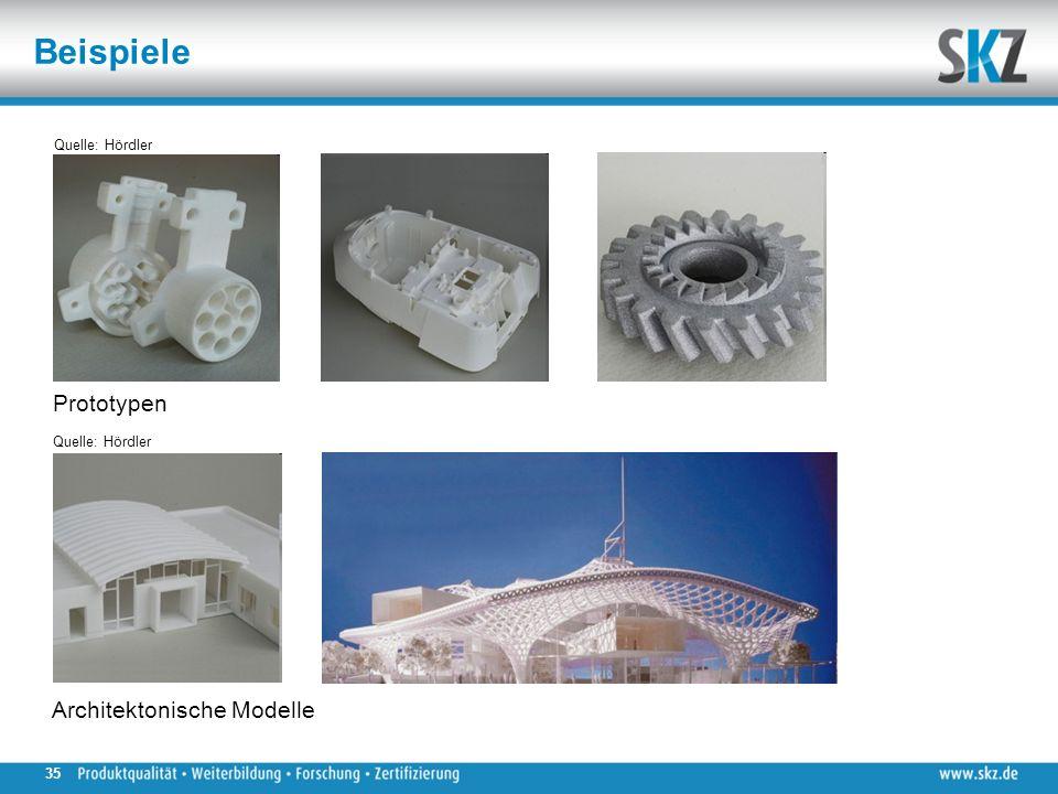 Beispiele Quelle: Hördler Prototypen Architektonische Modelle Quelle: Hördler 35