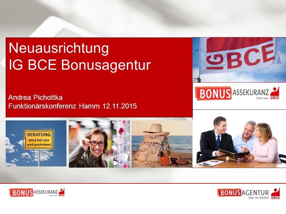 Neuausrichtung IG BCE Bonusagentur Andrea Pichottka Funktionärskonferenz Hamm 12.11.2015