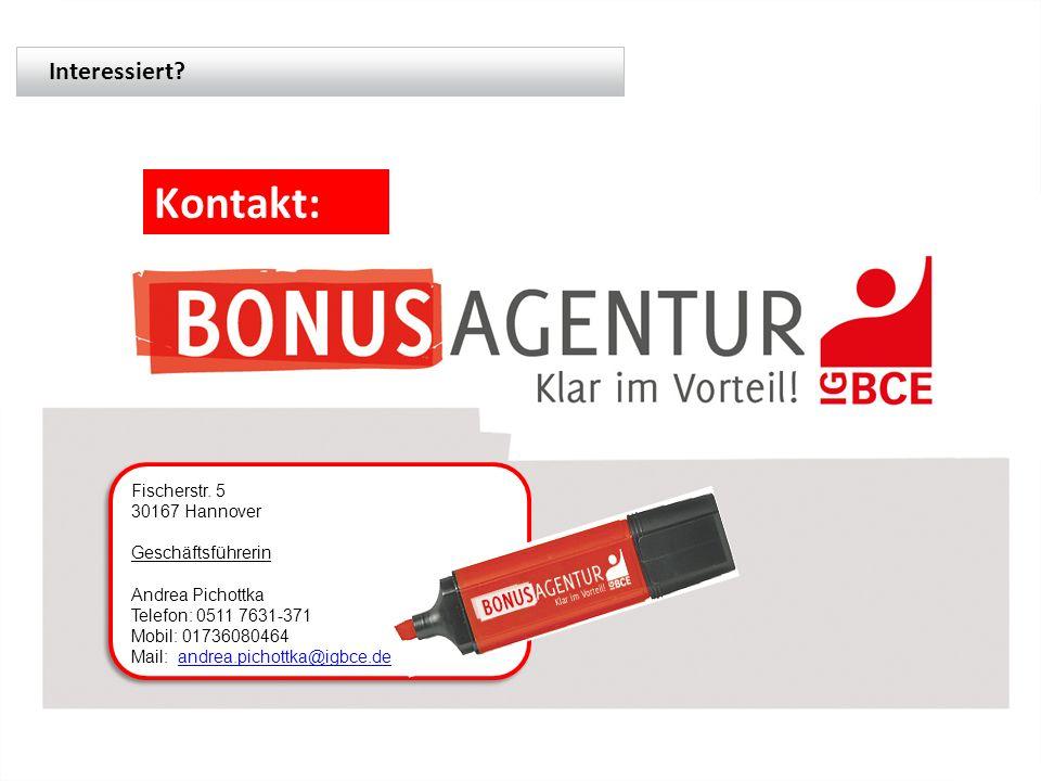 Fischerstr. 5 30167 Hannover Geschäftsführerin Andrea Pichottka Telefon: 0511 7631-371 Mobil: 01736080464 Mail: andrea.pichottka@igbce.deandrea.pichot