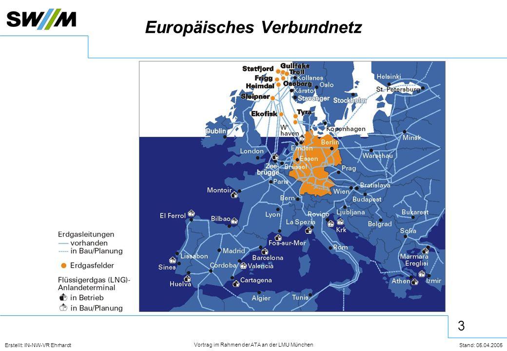 3 Erstellt: IN-NW-VR Ehrhardt Stand: 05.04.2005 Vortrag im Rahmen der ATA an der LMU München Europäisches Verbundnetz