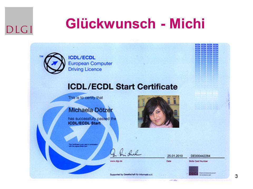 3 Glückwunsch - Michi