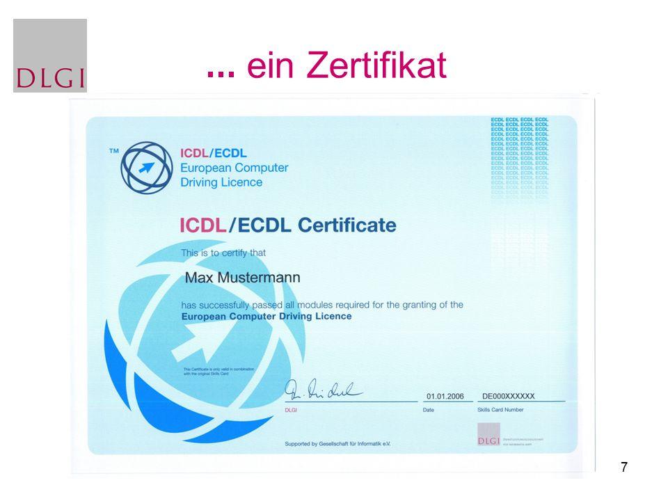7 ein Zertifikat