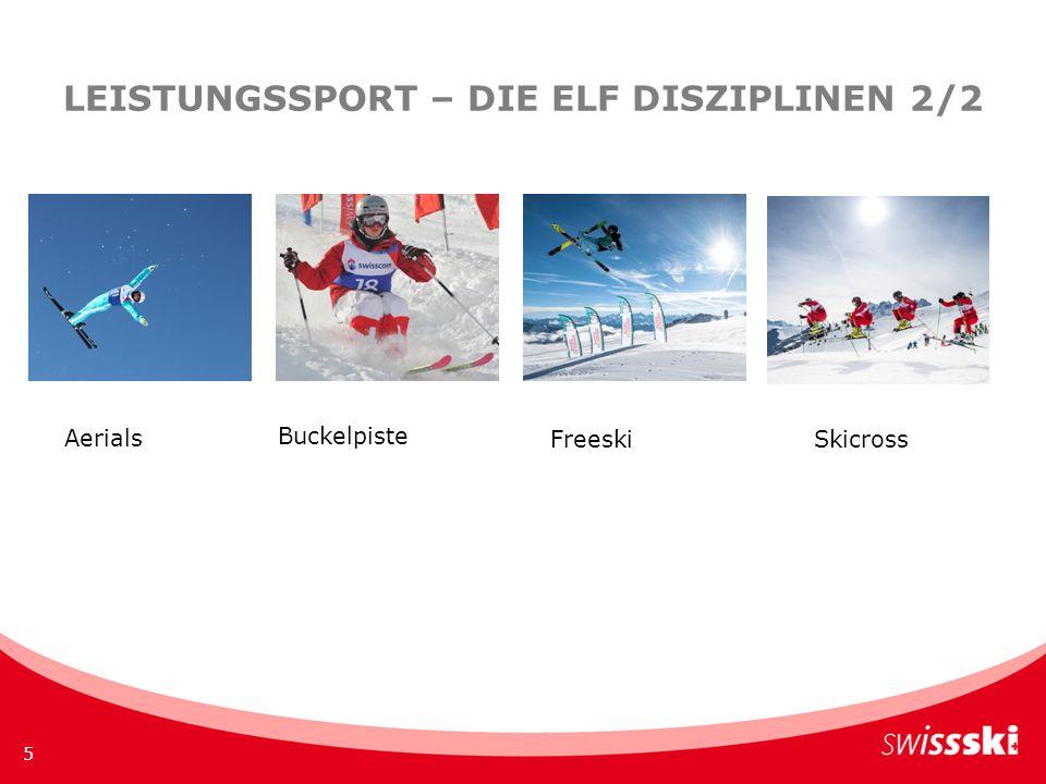LEISTUNGSSPORT – DIE ELF DISZIPLINEN 2/2 5 Freestyle Telemark Aerials Buckelpiste FreeskiSkicross