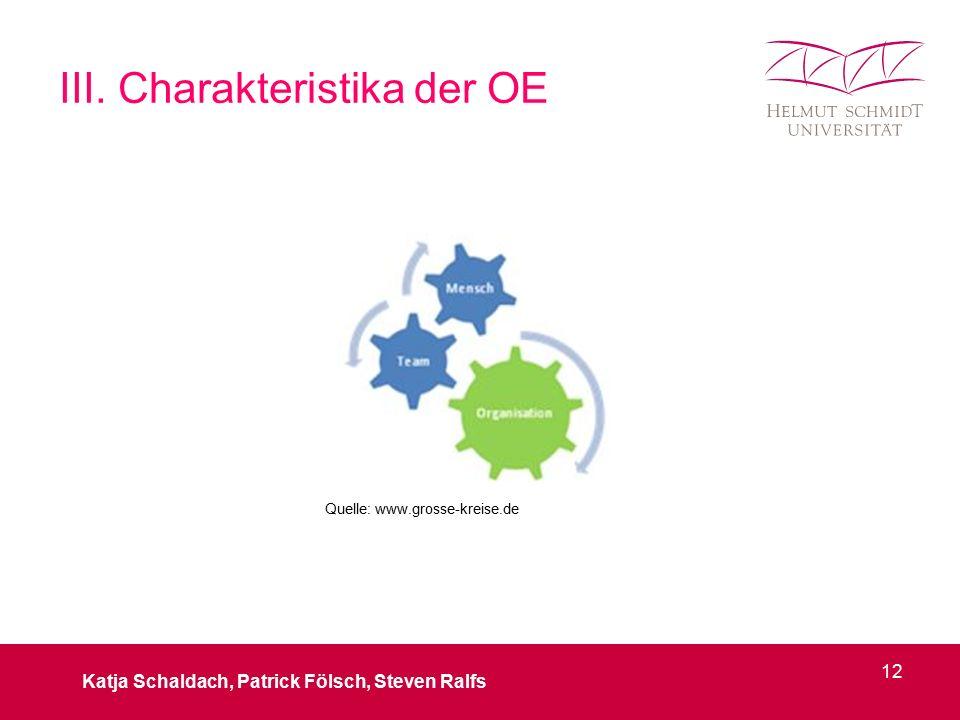 III. Charakteristika der OE Katja Schaldach, Patrick Fölsch, Steven Ralfs 12 Quelle: www.grosse-kreise.de