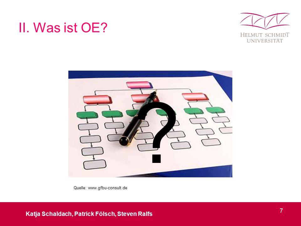 II. Was ist OE? ? Katja Schaldach, Patrick Fölsch, Steven Ralfs 7 Quelle: www.gfbu-consult.de