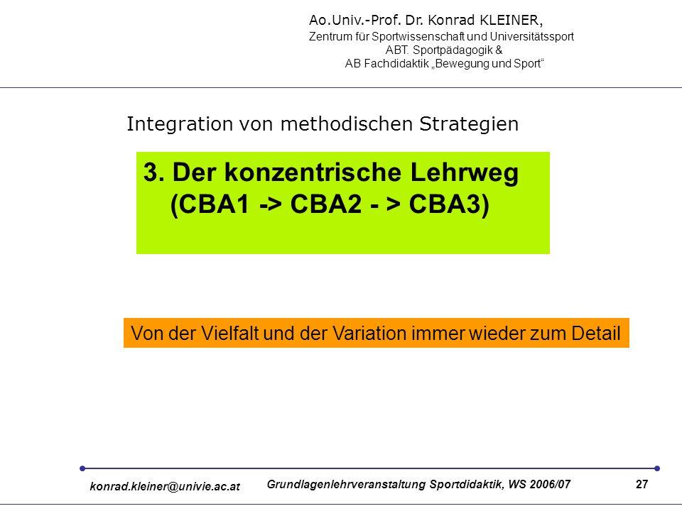 Ao.Univ.-Prof. Dr. Konrad KLEINER, Zentrum für Sportwissenschaft und Universitätssport ABT.