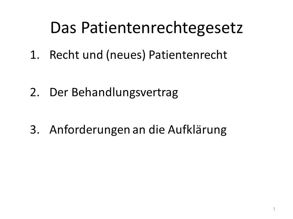 Gesetz zur Verbesserung der Rechte von Patientinnen und Patienten v.