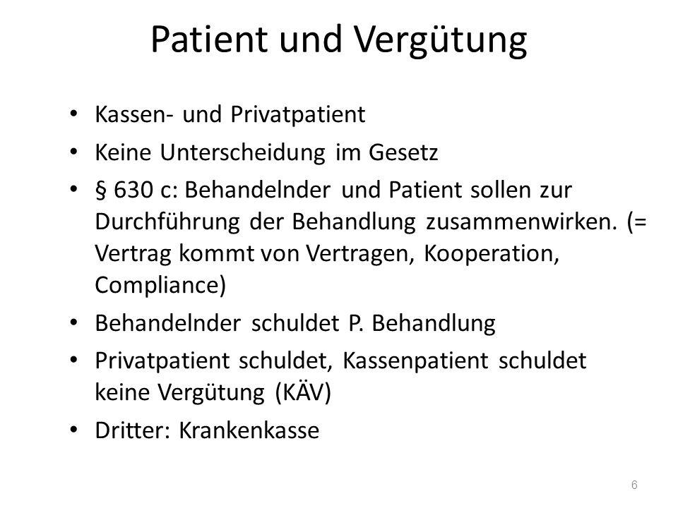 Allgemein anerkannter fachl.Standard Arzt: Standard der Medizin Leitlinien, Fachgesellsch., evtl.