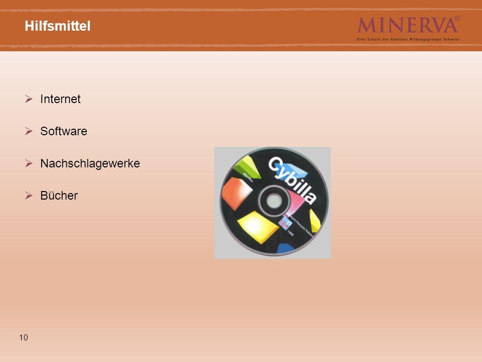 10 Hilfsmittel  Internet  Software  Nachschlagewerke  Bücher
