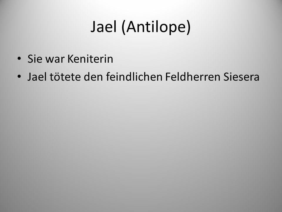 Jael (Antilope) Sie war Keniterin Jael tötete den feindlichen Feldherren Siesera