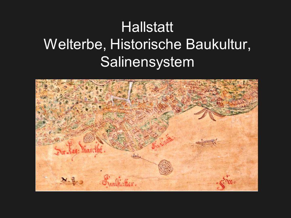 Hallstatt Welterbe, Historische Baukultur, Salinensystem