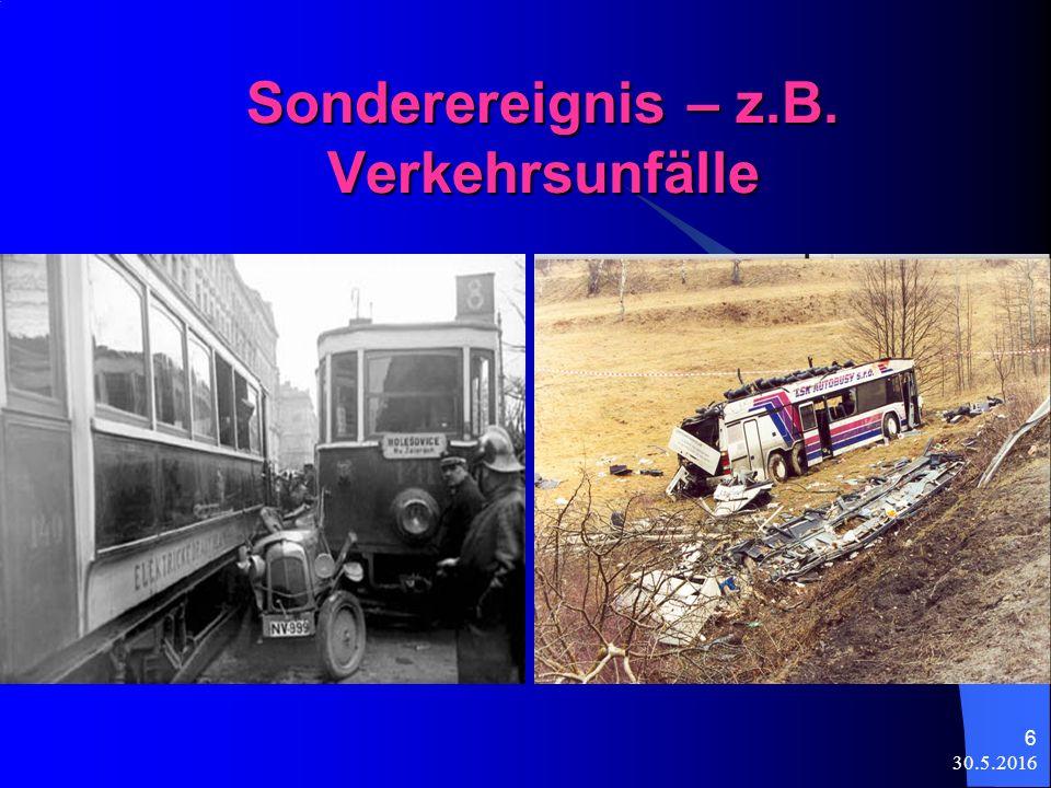 30.5.2016 6 Sonderereignis – z.B. Verkehrsunfälle