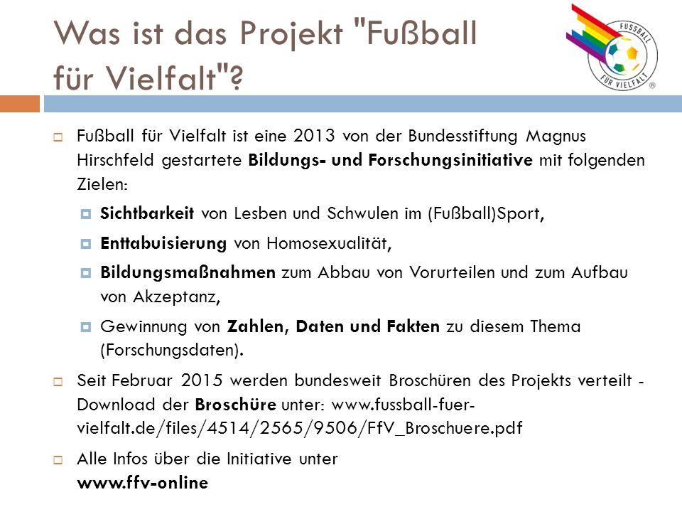 Was ist das Projekt Fußball für Vielfalt .