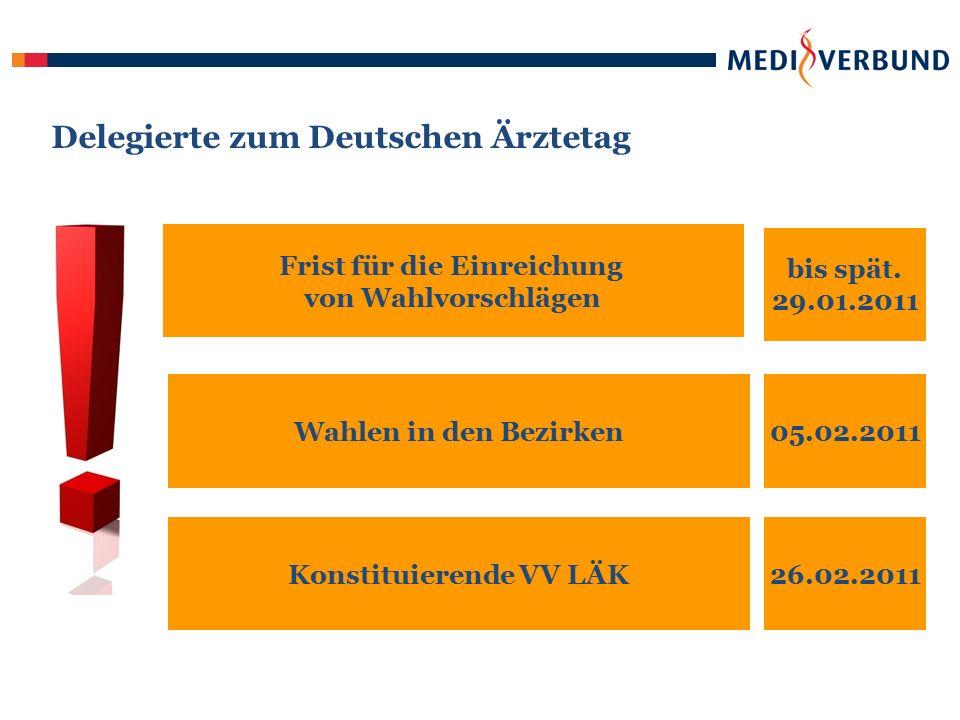 Delegierte zum Deutschen Ärztetag bis spät.