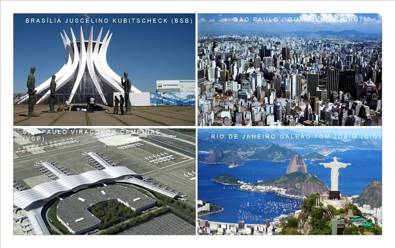 www.airportworld.com BRASÍLIA JUSCELINO KUBITSCHECK (BSB) SAO PAULO / GUARULHOS (GRU) RIO DE JANEIRO GALEÃO TOM JOBIM (GIG) SÃO PAULO VIRACOPOS CAMPIN