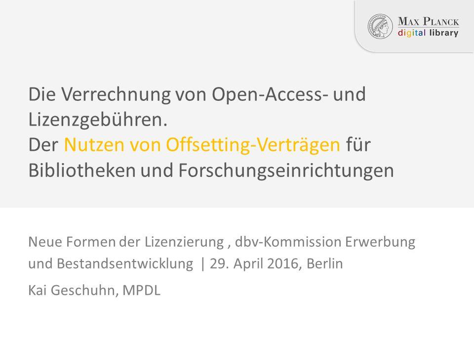 Neue Formen der Lizenzierung, dbv-Kommission Erwerbung und Bestandsentwicklung | 29.