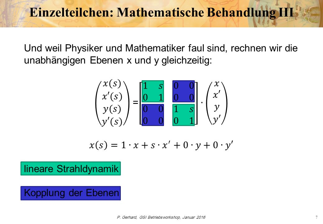 P. Gerhard, GSI Betriebsworkshop, Januar 201618 Globale Strahlparameter: Emittanz x x x y y y