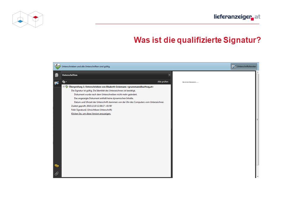 Was ist die qualifizierte Signatur