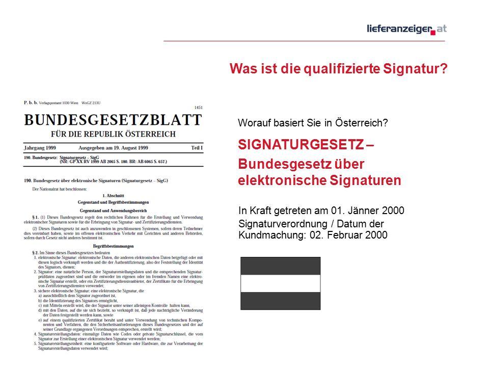 Was ist die qualifizierte Signatur. Worauf basiert Sie in Österreich.