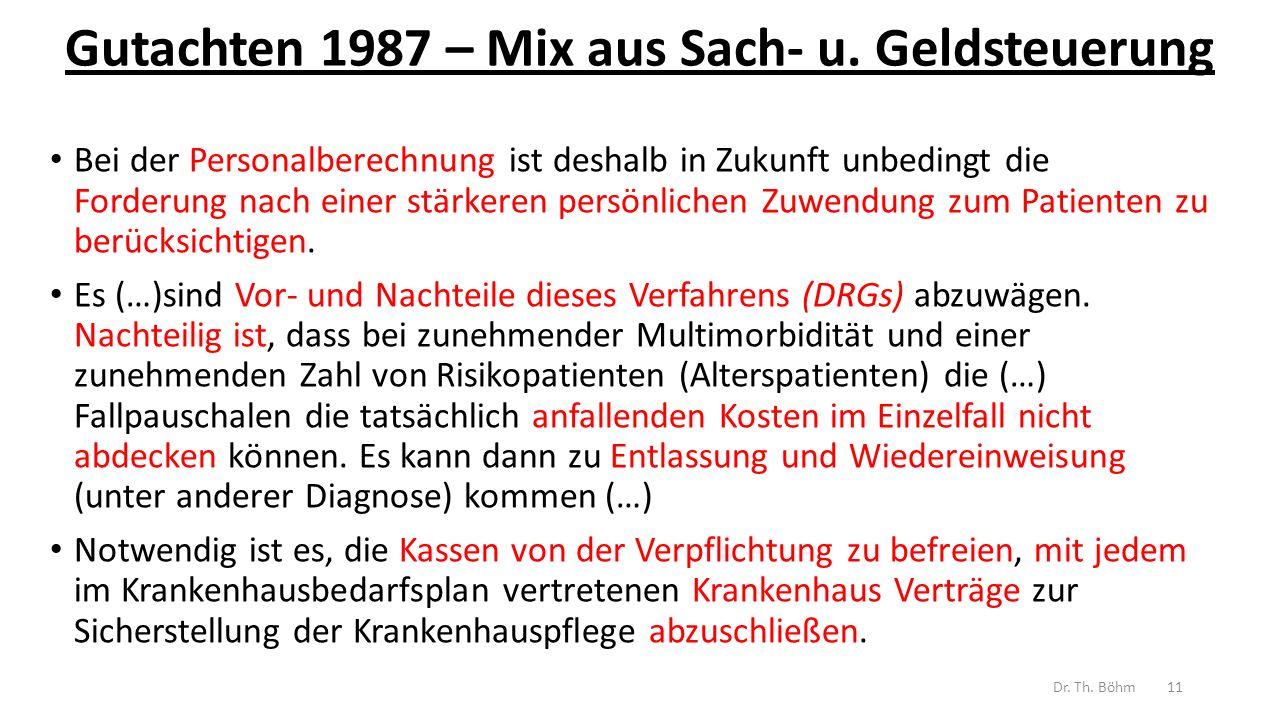 Gutachten 1987 – Mix aus Sach- u.