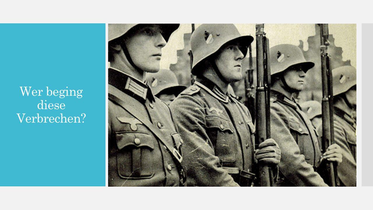 Die Hierarchie: Oberkommando  Oberkommando der Wehrmacht (die OKW) - hatte die meistene Kontrolliert  Oberkommando des Heeres (das OKH)– hatte die Kontrolliert über der russische Kampf  Oberkommando der Marine – hatte die Kontrolliert über die Kriegsmarine