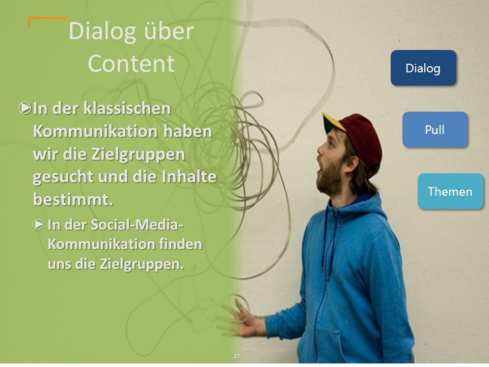 In der klassischen Kommunikation haben wir die Zielgruppen gesucht und die Inhalte bestimmt.