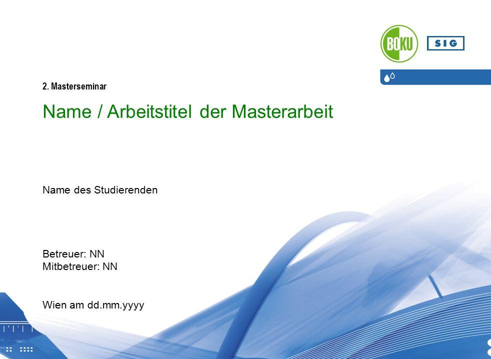 Universität für Bodenkultur Wien, Institut für Siedlungswasserbau, Industriewasserwirtschaft und Gewässerschutz (SIG) 2.