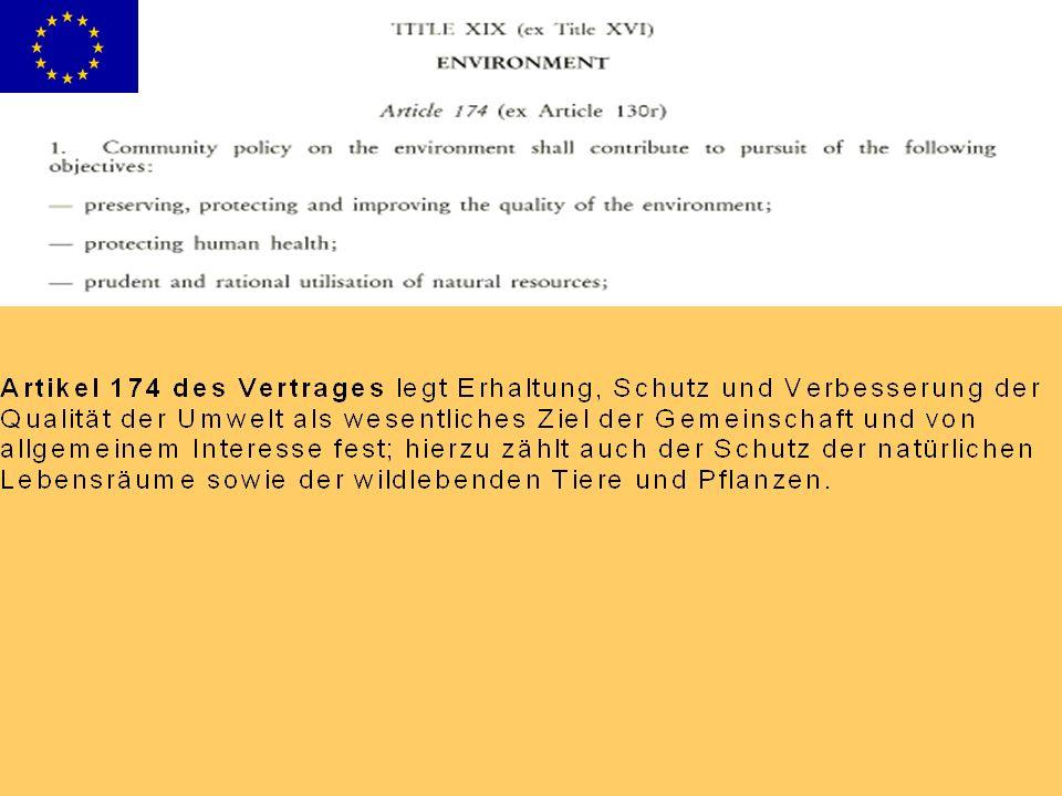 Habitats Directive (92/43/EEC): Annex I: Annex II: Annex III: Annex IV: Annex V: Annex VI: Birds Directive (79/409/EEC): Annex IAnnex I, Annex II-1, Annex II-2, Annex III-1, Annex III-2:Annex II-1Annex II-2Annex III-1Annex III-2 Novellierung der Anhänge der FFH- Richtlinie Der Schutz der FFH-Richtlinie gilt den Arten und Lebensraumtypen von gemeinschaftlichem Interesse , d.