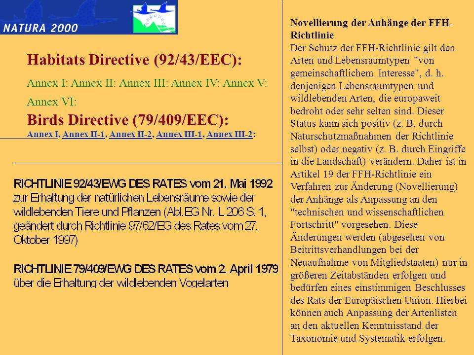 Was ist das Ziel der FFH-Richtlinie.
