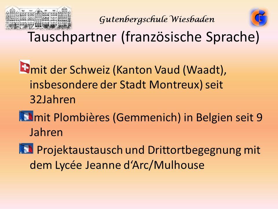 Tauschpartner (französische Sprache) mit der Schweiz (Kanton Vaud (Waadt), insbesondere der Stadt Montreux) seit 32Jahren mit Plombières (Gemmenich) i