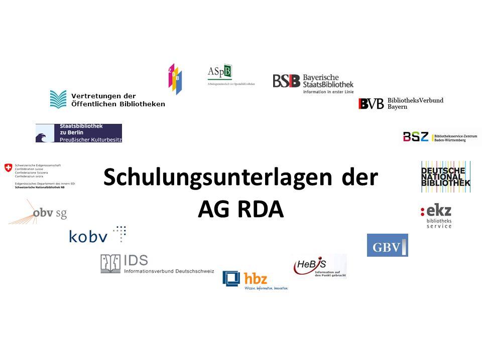2 Schulungsunterlagen der AG RDA – Modul GND: Untergeordnete Körperschaften   22.04.2014 Untergeordnete Körperschaften