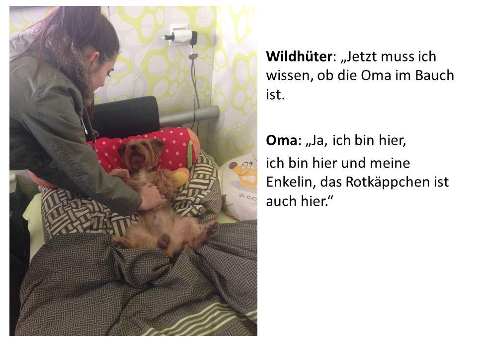 """Wildhüter: """"Jetzt muss ich wissen, ob die Oma im Bauch ist."""