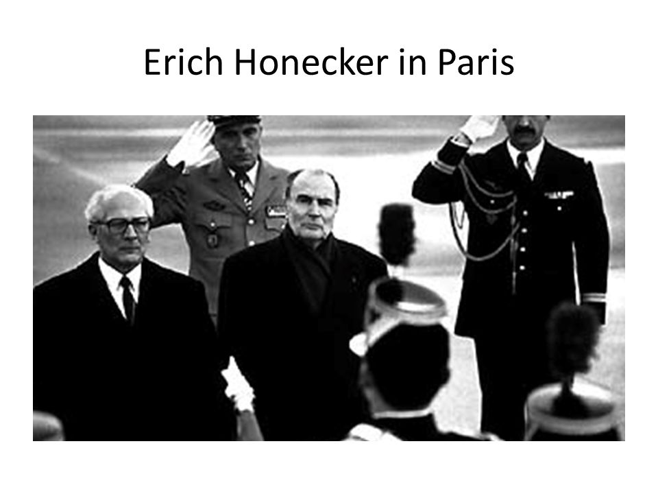 Erich Honecker in Paris