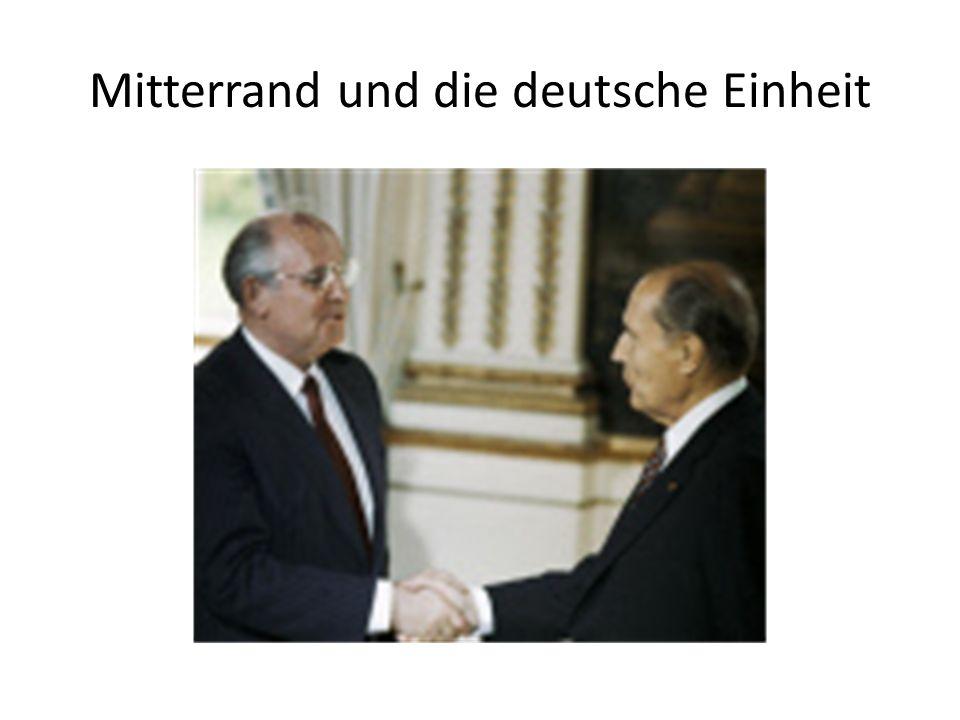 Mitterrand und die deutsche Einheit