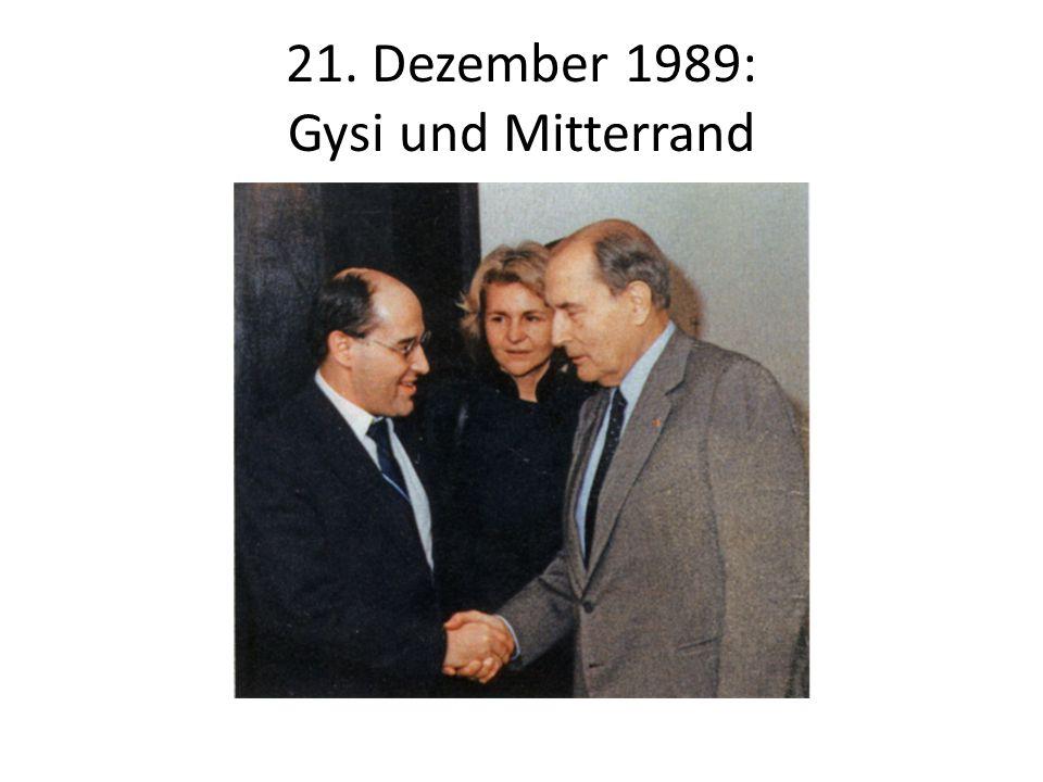21. Dezember 1989: Gysi und Mitterrand