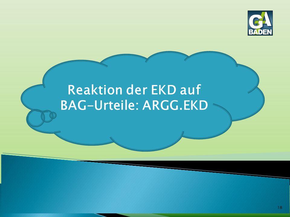 18 Reaktion der EKD auf BAG-Urteile: ARGG.EKD