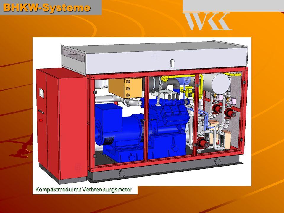 BHKW-Systeme Kompaktmodul mit Verbrennungsmotor