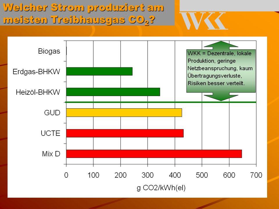 Vergleich verschiedener Produktionsformen von Strom und Wärme