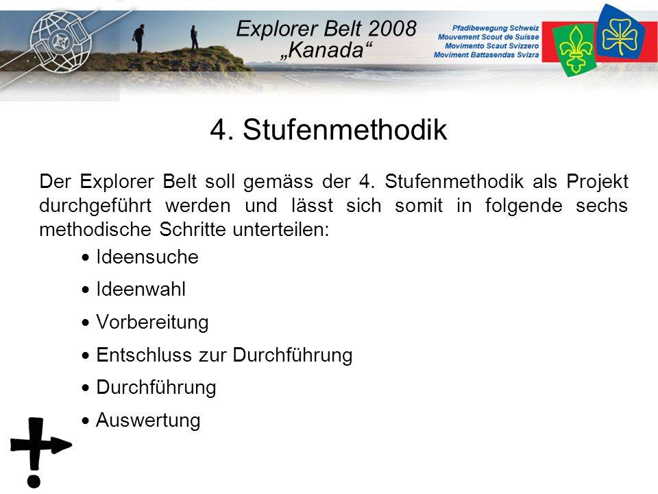 4. Stufenmethodik Der Explorer Belt soll gemäss der 4.