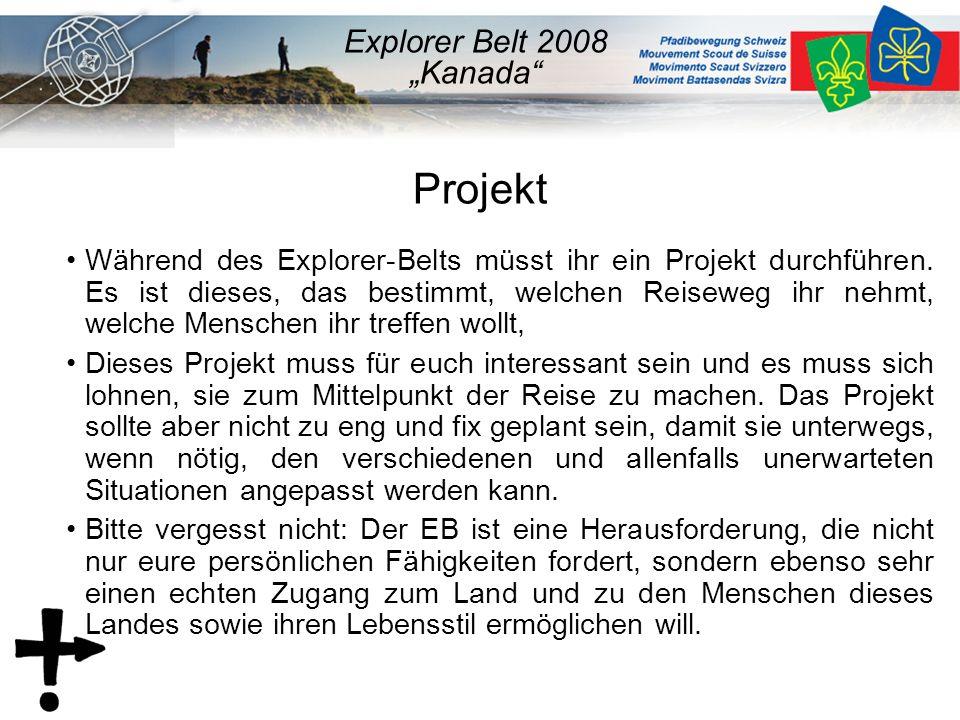Projekt Während des Explorer-Belts müsst ihr ein Projekt durchführen.