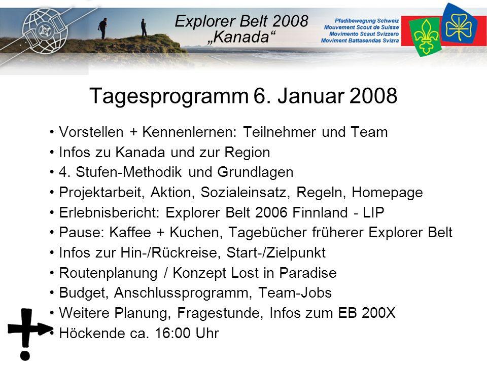 Team und Teilnehmer Vorstellen des Explorer-Belt Teams –Markus Bühlmann v/o Jojo –ev.