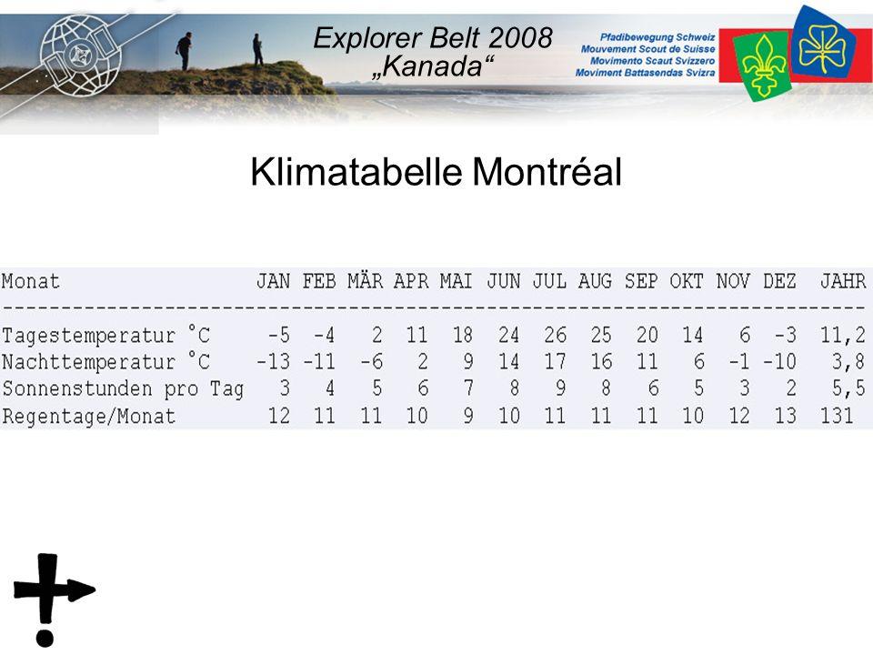"Klimatabelle Montréal Explorer Belt 2008 ""Kanada"