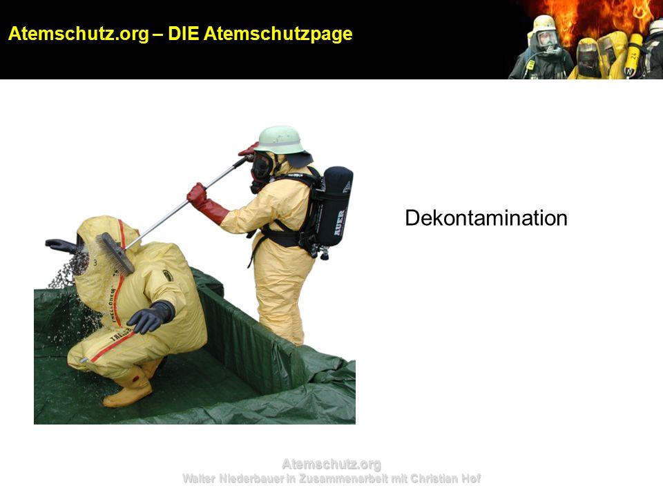 Atemschutz.org Walter Niederbauer in Zusammenarbeit mit Christian Hof Dekontamination Atemschutz.org – DIE Atemschutzpage