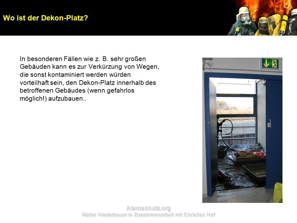 Atemschutz.org Walter Niederbauer in Zusammenarbeit mit Christian Hof In besonderen Fällen wie z. B. sehr großen Gebäuden kann es zur Verkürzung von W